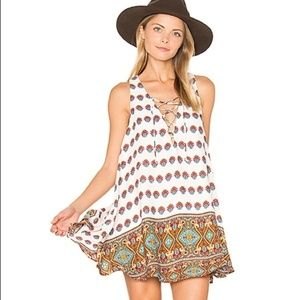 SHOW ME YOUR MUMU Rancho Mirage Lace-Up Dress NWOT